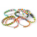 wholesale Jewelry & Watches: Multicolored  braided leather and steel Bracelets