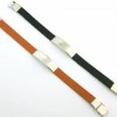 Großhandel Schmuck & Uhren: Leder und Stahl  Armbänder glatt fornitura Sortimen