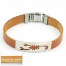 Großhandel Schmuck & Uhren: 1,5 mm Stahl und  Leder Armband Made in Spain 2 Bra