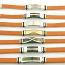 ingrosso Gioielli & Orologi: 12 in pelle 10x3  bracciali in acciaio Made in Spai