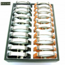 Großhandel Schmuck & Uhren: Display mit 30  Stahl und  Leder-Armbänder. ...