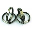 groothandel Sieraden & horloges: Sieraden Sieraden  Armbanden rubber staalkoord