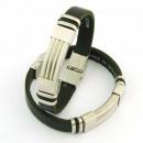 Großhandel Schmuck & Uhren: Stahl und Leder  Armbänder 10x3 in Spanien Black 7