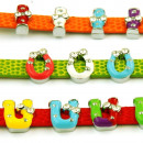 LETTERS TO GLAZED  COLOR STRASS BRACELET 8mm