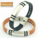 Fornitura 3mm  steel leather  bracelet 30 mm. ...
