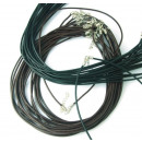 wholesale Haberdashery & Sewing: Leather Cord with Clasp. Assorted Pack