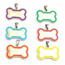 wholesale Garden & DIY store: Stainless Steel  Tag Pendant Bone enameled COLORS