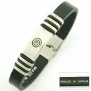 groothandel Sieraden & horloges: Leer en stalen  armband Camino de Santiago SPIRAL