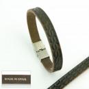 ingrosso Gioielli & Orologi: bracciali in pelle  e acciaio. pelle 3 millimetri p