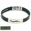 Großhandel Schmuck & Uhren: 1.5mm  Leder-Armband aus  Stahl Made in ...