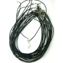 wholesale Haberdashery & Sewing: 1,5mm Black  Leather Cord with Clasp
