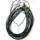 groothandel Fournituren & naaigerei: Zwart lederen  koord 1,5 mm afsluitbare