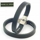 Großhandel Schmuck & Uhren: 3mm Ledergürtel  Armband Verschluss. schwarz