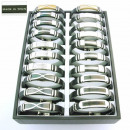 groothandel Sieraden & horloges: Display met 30  staal en leer armbanden. P_254N