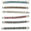 Bracelets en cuir, le coton et zamac. modèle GIRL