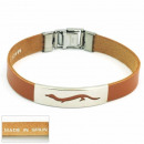 wholesale Jewelry & Watches: 1.5mm steel  bracelet leather  Made in Spain 10 ...