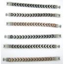 grossiste Bijoux & Montres: bracelet en cuir,  le coton et zamac. modèle CHICO