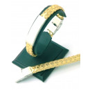 Großhandel Armbänder: Lederarmband aus  Edelstahl für die Aufnahme DORADO