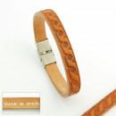 grossiste Bijoux & Montres: Cuir et acier  bracelets. peau 3mm poinçonnage 05