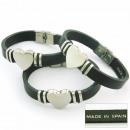 grossiste Bijoux & Montres: cuir espagnol et  bracelet en acier pour enregistre