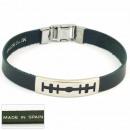 1.5mm steel  bracelet leather  Made in Spain ...