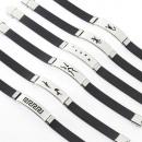 ingrosso Gioielli & Orologi: bracciale acciaio  e gomma-range fornitura