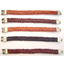 wholesale Jewelry & Watches: 5 Braided leather bracelet. Wide