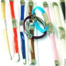 grossiste Bijoux & Montres: bracelets en acier  et tresse en cuir pour enregist
