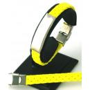 ingrosso Gioielli & Orologi: cinturino in pelle  GIALLO per registrare in acciai