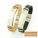 groothandel Armbanden: handgemaakte  armbanden staal en leer Made in Spain