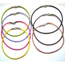 wholesale Haberdashery & Sewing: Colored leather  cord necklace. Assorted colors