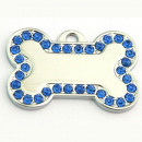 wholesale Garden & DIY store: Steel bone pendant  with rhinestones LIGHT BLUE