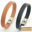 3mm leather belt  bracelet clasp. Assortment