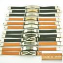 Großhandel Schmuck & Uhren: 12 handgefertigte  Lederarmbänder Stahl Made in Spa