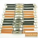 grossiste Bijoux & Montres: 12 main bracelets  en cuir acier Made in Spain