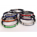 Rubber and steel  bracelet rubber cable look center