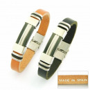 grossiste Bijoux & Montres: bracelets acier à  la main et en cuir Made in Spain