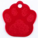 wholesale Garden & DIY store: Aluminum sheet Footprint pet. RED