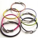 Colored leather  cord bracelet. Assorted colors