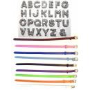 Großhandel Schmuck & Uhren: 260 Starter Kit  und 50 Armbänder Strass Buchstaben