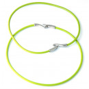 wholesale Haberdashery & Sewing: Colored leather cord necklace. GREEN