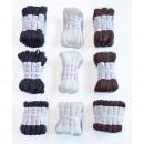 Großhandel Schuhzubehör: Schnürsenkel in  braun,weiß,schwarz und 45,60,75cm