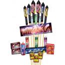 Großhandel Feuerwerk: Air Bag Family mit 9 Raketen Silvester Feuerwerk