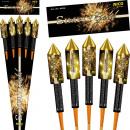 groothandel Vuurwerk: Simply Gold, 5 stuks. Bereik van raketten