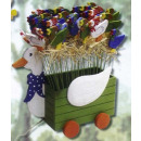 Holzstecker Ente Deko f Frühling Ostern Garten