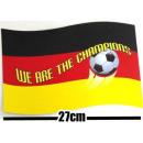 Auto Magnet Tafel 18x27cm Deutschland WM