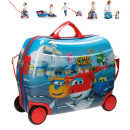 Großhandel Koffer & Trolleys: Reisekoffer /  Sitz-Trolley - Super Wings ABS