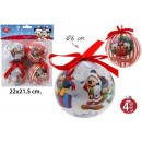 wholesale Licensed Products: Christmas Tree Decorations Ø8cm 4-piece Mickey