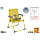 Großhandel Möbel: Klappstuhl Metall  Campingstuhl 53cm Minion