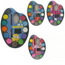 Farbpalette 4-fach sortiert mit 12 Farben & Pinsel